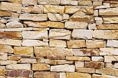 Colorful Stone Wall Closeup