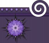 Purple Background With Floral Design