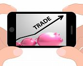Trade Graph Displays Increase In Buying And Selling