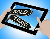 Bold Timid Tablet Shows Extroverted And Shy