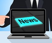News Button Displays Newsletter Broadcast Online