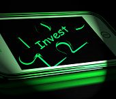 Invest Smartphone Displays Investment In Company Or Savings