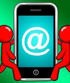 At Symbol On Phone Displays At-sign Email