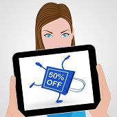 Sale Discount Fifty Percent Off
