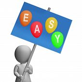 Sign Easy Balloons Show Simple Promos And Convenient Buying Options