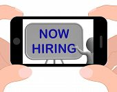 Now Hiring Phone Means Job Vacancy And Employment