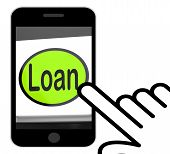 Loan Button Displays Lending Or Providing Advance
