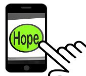 picture of hope  - Hope Button Displaying Hoping Hopeful Wishing Or Wishful - JPG