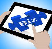 Biz Tablet Shows Internet Business Or Shop