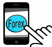 Forex Button Displays Foreign Exchange Or Currency