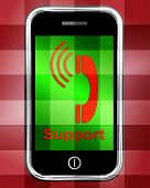 Support On Phone Displays Call For Advice