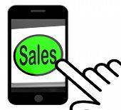 Sales Button Displays Promotions And Deals