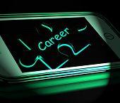 Career Smartphone Displays Occupation Profession Or Work