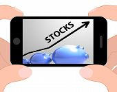 Stocks Arrow Displays Increase In Worth For Stockholders
