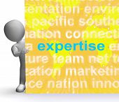 Expertise Word Cloud Sign Shows Skills Proficiency And Capabilities