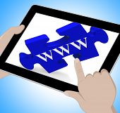 Www Tablet Means Internet Network And Websites