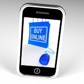 Buy Online Bag Displays Internet Shopping And Buying