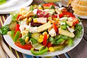 Chicken Salad With Cheese And Vegetables