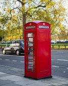 Famous London booth on street