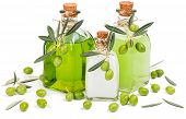 Liquid Soap, Cream And Shampoo Of Green Olive
