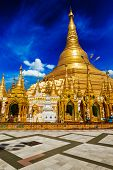 stock photo of yangon  - Myanmer famous sacred place and tourist attraction landmark  - JPG