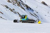 Snowplow At Mountains Ski Resort - Innsbruck Austria