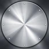 silver knob on metal plate