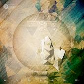 picture of triangular pyramids  - Abstract 3D pyramid - JPG