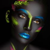 stock photo of dark-skin  - close - JPG