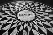 Imagine Mosaic At Central Park