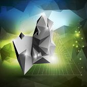 pic of triangular pyramids  - Abstract 3D pyramid - JPG