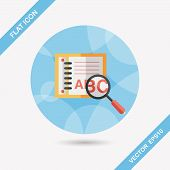 Search Dictionary Book Flat Icon With Long Shadow,eps10