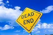 Dead End Street Sign Under Blue Sky