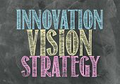 Innovation, Visionon And Strategy A Blackboard