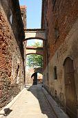 European architecture: an alley