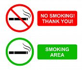 image of banned  - the Illustration dedicated to the ban of smoking - JPG