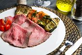 Roastbeef With Grilled Vegetables