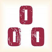 Grunge vector O letter