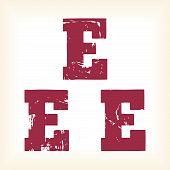 Grunge vector E letter