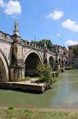 Beautiful View Of Rome Bridge, Italy