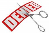 Scissors and Denied (clipping path included)