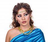 Egypt style. Female bust.