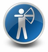 picture of archery  - Image Graphic Icon Button Pictogram with Archery symbol - JPG