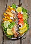 Grilled Fish With Fresh Vegetables