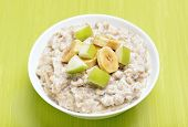 Porridge With Apple And Bananas Slices