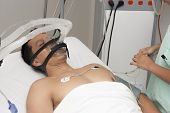 Portrait Of Patient Receives Anaesthetic