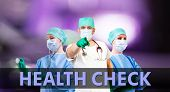 picture of syphilis  - health check medical background with female and male doctors - JPG