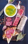 salami and aroma spice