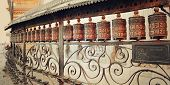 picture of mantra  - Metal drums inscribed with mantras  - JPG