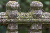 Fragment Of Ornamental Stone Fence